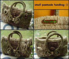 woven and felted handbag by were-were-wolfy