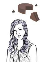Favorite food is chocolate cake by haymakers