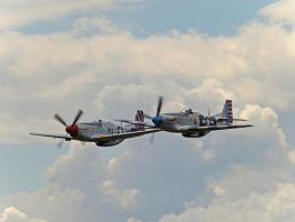 P51 Mustangs Duxford by davepphotographer