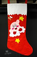 Giant Kirby Stocking by MeMiMouse