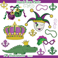 Mardi Gras Party by jdDoodles