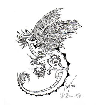 Willow Dragon tattoo design by rosepeonie