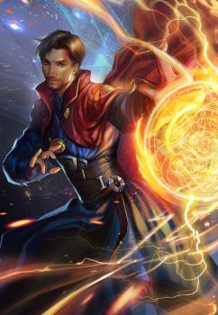 Dr Strange fan art by jiuge