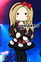 Avril Lavigne - Hello Kitty on stage by NickyToons