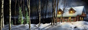 Cabin in the woods by bradlyvancamp