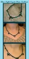 Blue Night Coyote Necklace by MorRokko