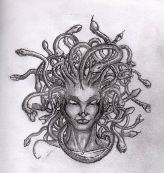 Medusa Tattoo Design by JustTheCleric