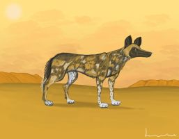 African Hunting Dog by Louisetheanimator
