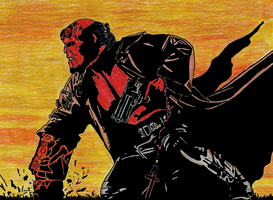 Hellboy by ladyjart