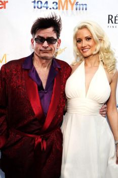 Charlie Sheen as Hugh Hefner by CatDigitalArt