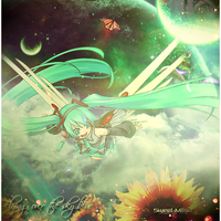 :: Flying over the sky blue :: by Sweet-Mitsu