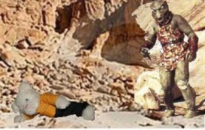 Star Trek Gorn attacks Chekov by SocksAndFudge