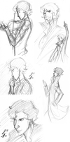 Sherlock Sketchdump February Pt 1 by GinnyMilling