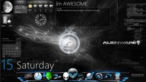 Alienware and HUD by MJ-lim