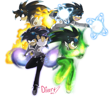 Neo The Hedgehog Powers by DragonWarrior25