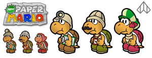 New Paper Mario: Kolorado + Co by Nelde