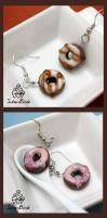 Chocolate Donut Earrings by TwineBirds