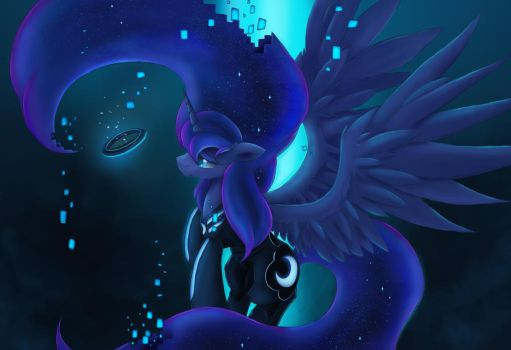 Derezzed to the moon by Ardail