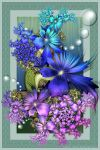Iridescent Blooms by Velvet--Glove