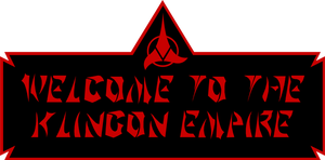 Welcome to the Klingon Empire by CmdrKerner