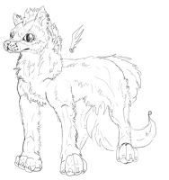 working on a new character by CanineCriminal