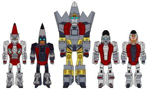 TFA Aerialbots Group Shot by Tha-C