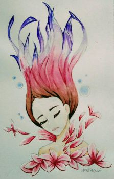 Beauty Sleep (Watercolor  Gouache) by MashiNabi
