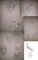 .C-D Sketchdump 4??. by Melodious-X