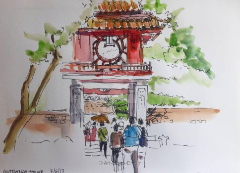 #408 - Entrance tower by Art-Chap-Enjoin