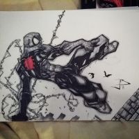 Spiderman swang by Anothen