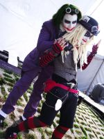 Steampunk Joker and Harley 02 by AmaranthCurse