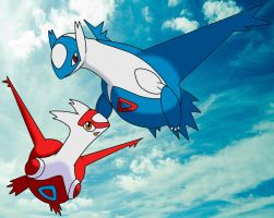 The Eon Duo - Latias and Latios by kenplx