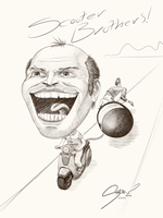 Scooty Bros Caricature by SHARK-E