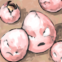 exeggcute by SailorClef