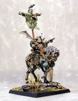 Raven atop Nurgle Lord by numbat