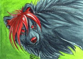 ACEO Roxanne by ZulayaWolf