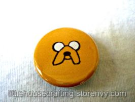 Adventure Time Jake 1.25 inch Pinback Button by Tharidra