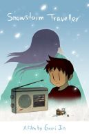 Animation Short-Snowstorm Travelelr Poster by xiaojin67