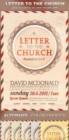 Letter to the Church Flyer Template by loswl