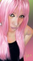 Auto Portrait with pink hair by Leuxdeluxe