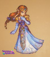 Princess of Hyrule Bead Sprite by SerenaAzureth