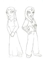 Zelda and Midna by ShadowMan-DDT