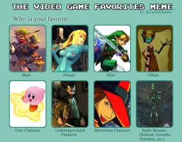 Video Game Favs Meme by JoTyler