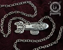 Steampunk Airship Necklace by Doctor-Gus