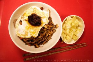 Soba Noodles and White Cabbage Tsukemono by oskila