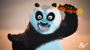 Po from Kung Fu Panda by Flaeger