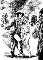 Doctor4  and Susan vs Cybermen by MatiasSoto