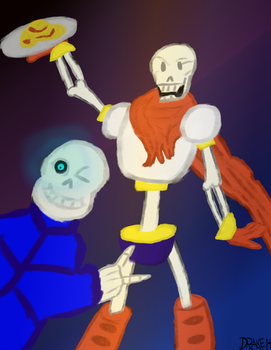 Sans and Papyrus by DrakeHensley