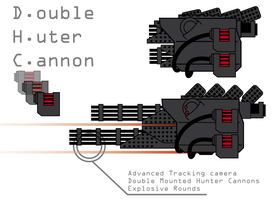 Double Hunter Cannon by The-Red-Right-Hand
