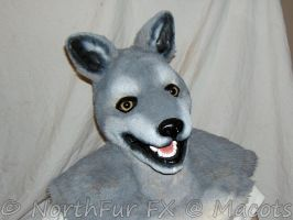 Wolf Head Mask in grey by sjgarg